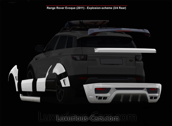 Range Rover Evoque wide bodykit carbon